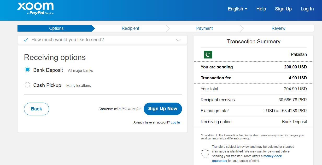 Xoom Paypal Pakistan